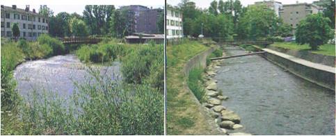 rivière deux photos